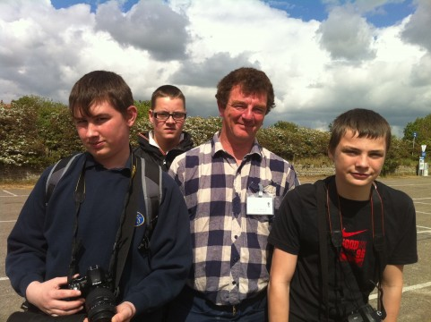 Dave Miller and Students at the Saltmarsh, Gibraltar Point