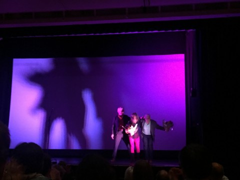 Michèle & Colin take a bow at the world premiere of Ice Station Vadsø