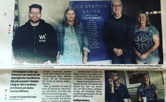 Finnmark Press reports 'Ice Station Vadsø' 2016