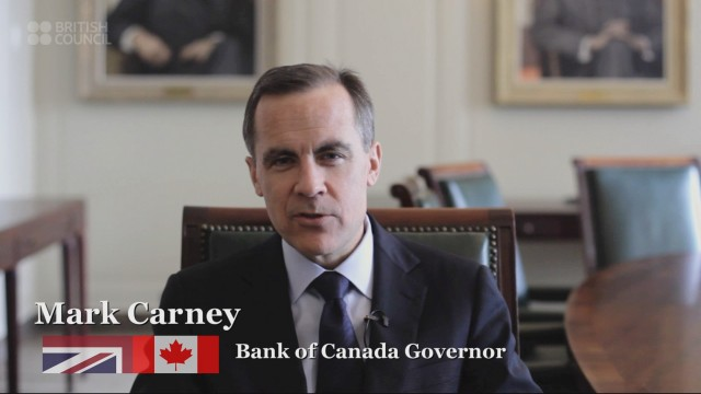 Mark Carney  in the Big Heart film for the British Council