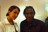 Princess Nauf and artist Mbeng Pouka