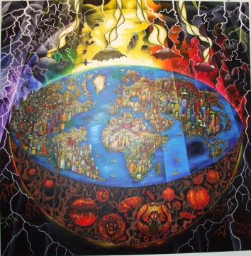 One of Pouka's paintings - The Rapture 2