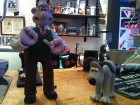 Wallace and Gromit waiting for a coffee